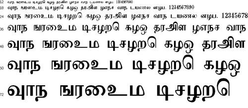 Adaana Tamil Font
