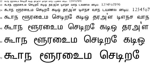 Aniezhai Tamil Font
