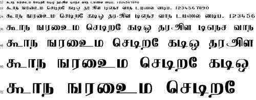 Arasu Tamil Font