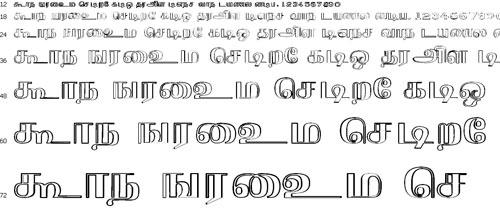 Gist Tmot Krishnan Tamil Font