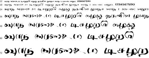 Chunnaka Tamil Font