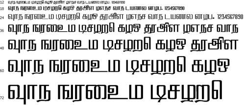 Hamsathvani Tamil Font
