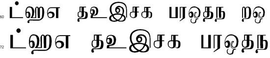Jaffna Tamil Font