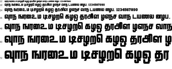 Lathangi Tamil Font