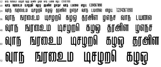 Kallar Tamil Font