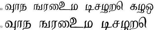 Kalyani Tamil Font