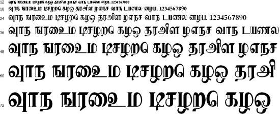 Karaharapriya Tamil Font
