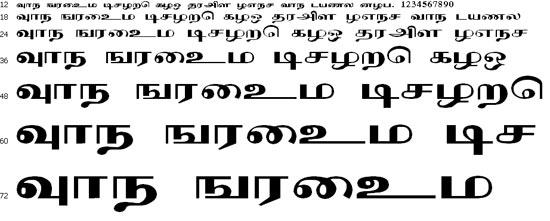 Karmukil Tamil Font