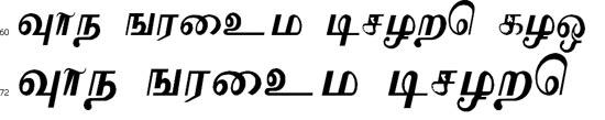 KaVaS Tamil Font