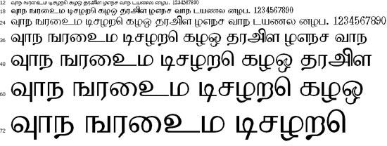 Kurinji Tamil Font
