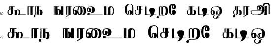 Pooram Tamil Font