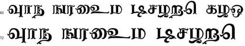 Nagananthini Tamil Font