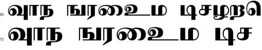 Nallur Tamil Font