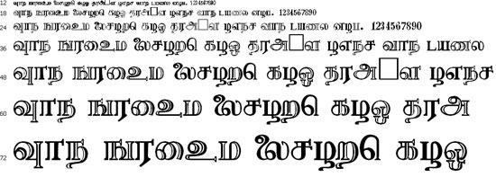 Needhimathi Tamil Font