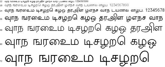 New Kannan Tamil Font