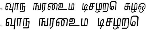 Nirmala Tamil Font