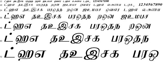 NuwaraEliya Tamil Font