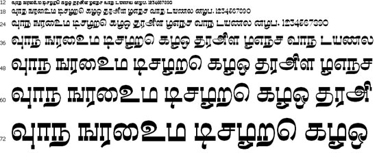 Madhuvanthi Tamil Font