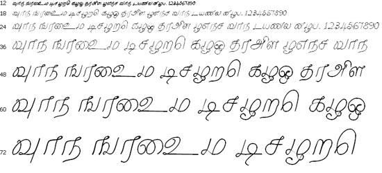 Malayamarutham Tamil Font