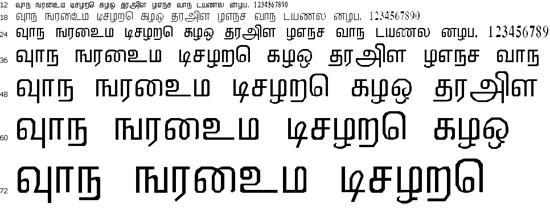 Mallikai Tamil Font