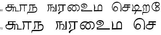 Mani Tamil Font