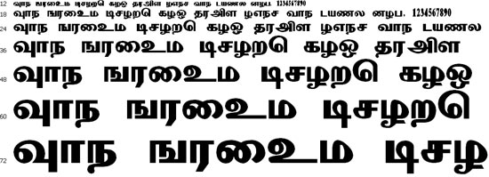 Mathuram Tamil Font