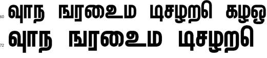 Mullai Tamil Font