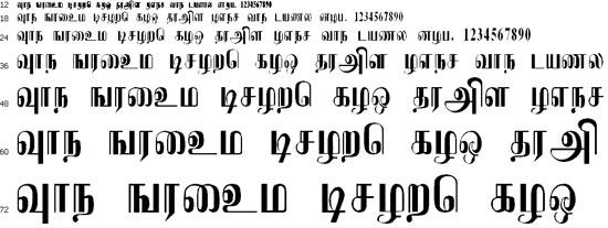 Uthayam Tamil Font