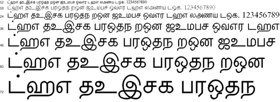 Vavuniya Tamil Font