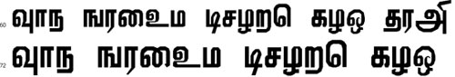 Viththi Tamil Font