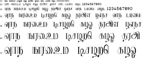 Ranjani Tamil Font