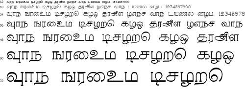 Rasihapriya Tamil Font