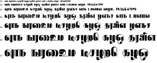 Rathnangi Tamil Font