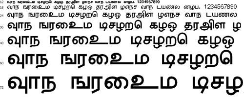 Trinco Tamil Font