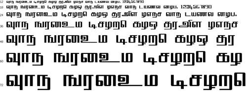 TML Square Tamil Font