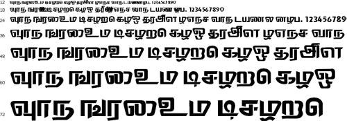 Thodiragam Tamil Font