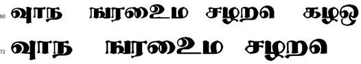 Thevaki Tamil Font