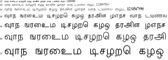 Thenmoli Tamil Font