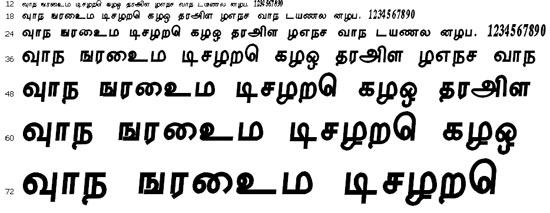 Tharakai Tamil Font