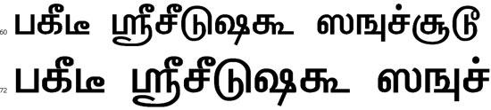 TBoomiS Tamil Font