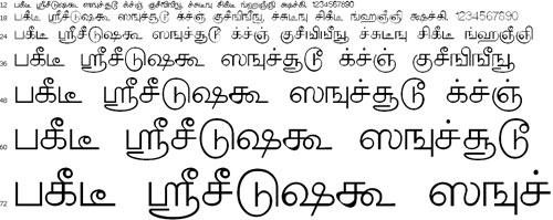 TBoomi Tamil Font