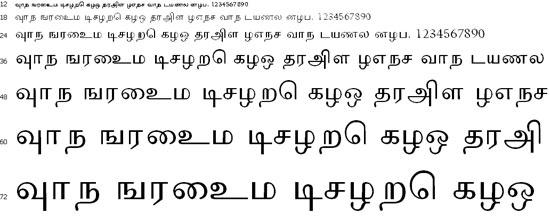 Tamilweb Tamil Font
