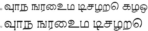 Tamil Apple Thin Tamil Font