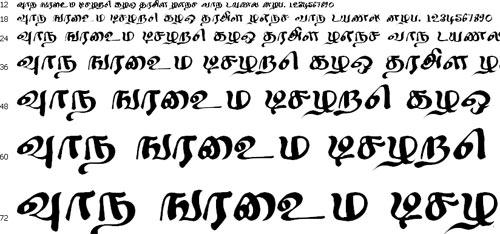 Sindhu Tamil Font