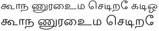 ELCOT Salem Tamil Font