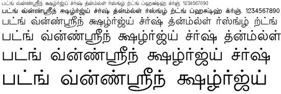 Valluvar Tamil Font