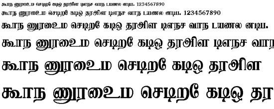 Vellore Tamil Font