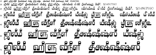 Tam Shakti 4 Tamil Font
