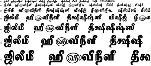 Tam Shakti 7 Tamil Font