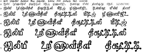 Tam Shakti 8 Tamil Font